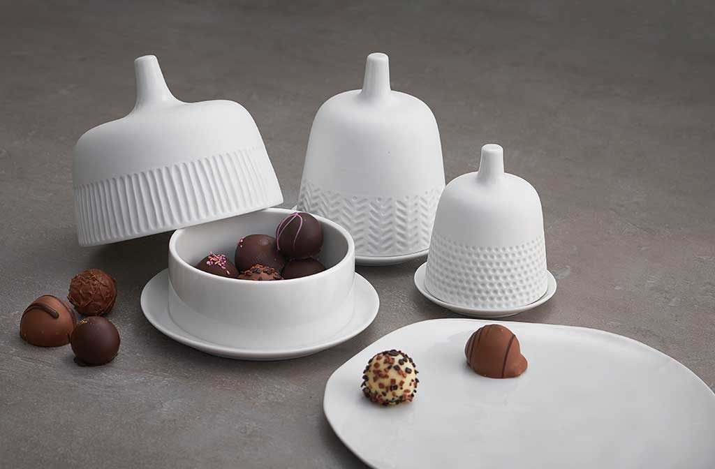 cloche ceramica bianca