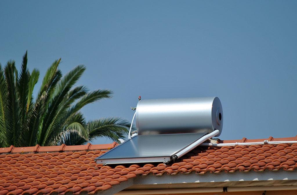 collettore solare tetto