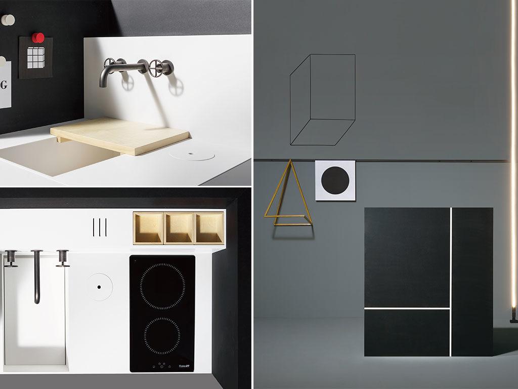 cucina compatta mobile nero