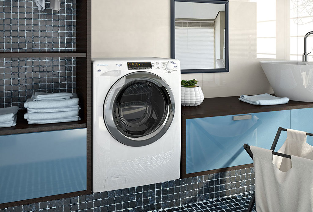 lavatrice in bagno