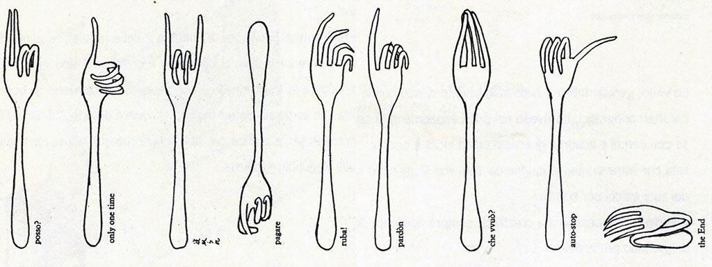 disegno forchette munari