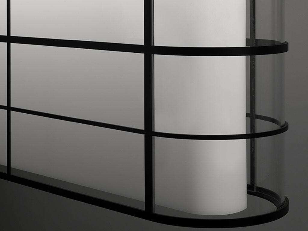particolare lampada vetro metallo