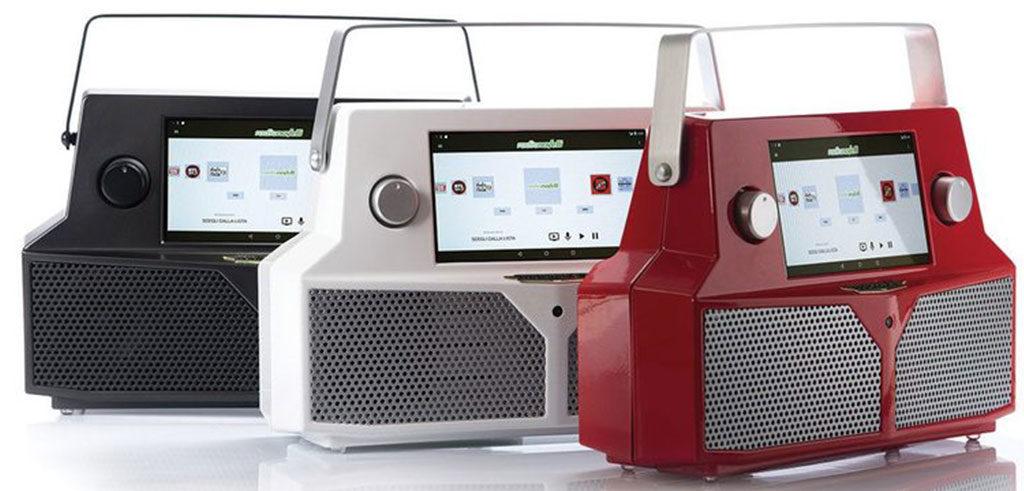 radio portatile tre colori