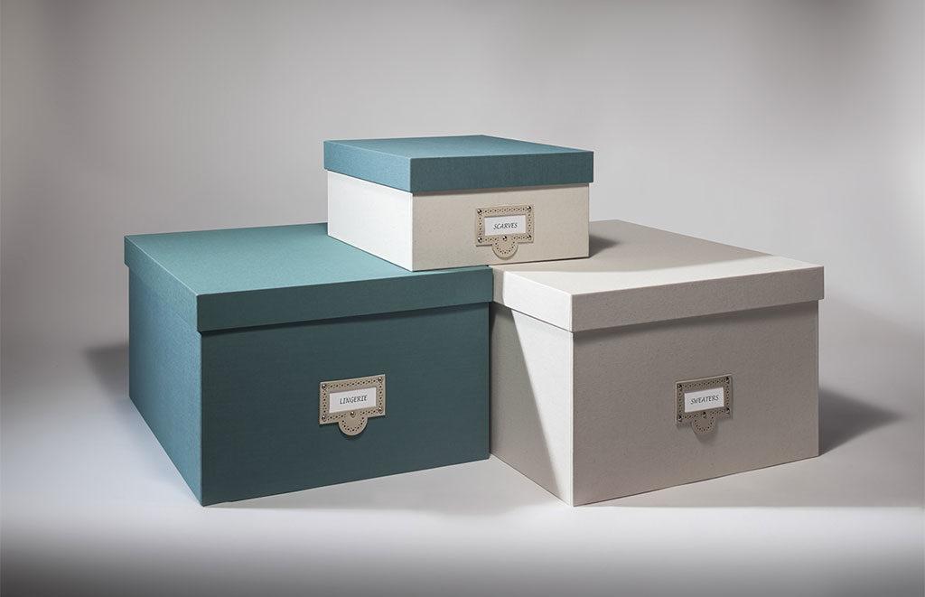scatole ordine vestiti