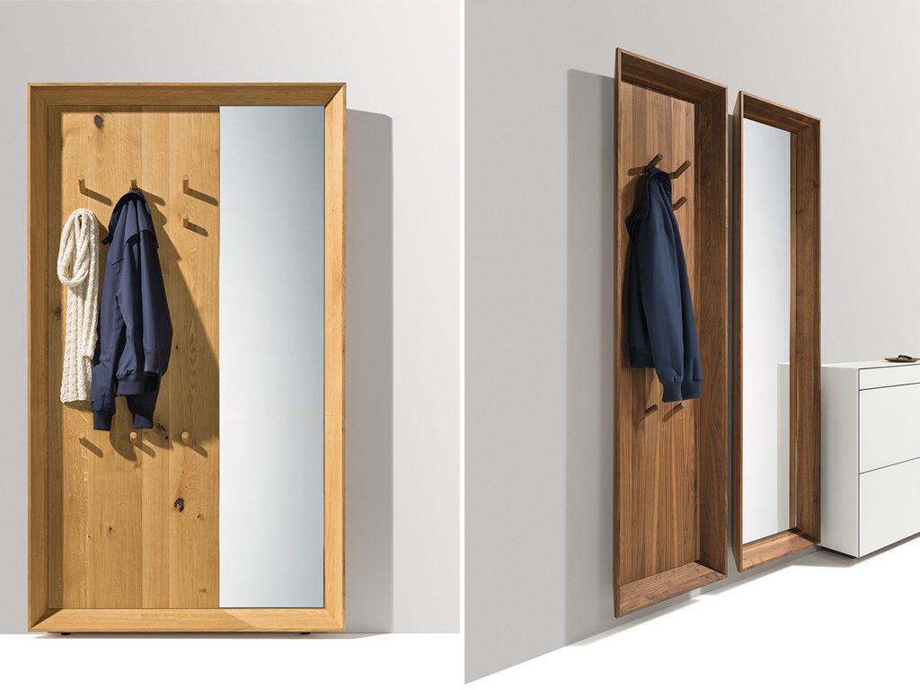specchio pannello legno