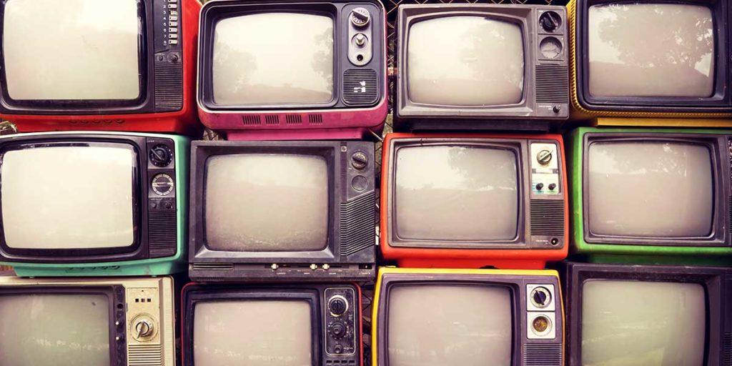 televisori vintage rotti