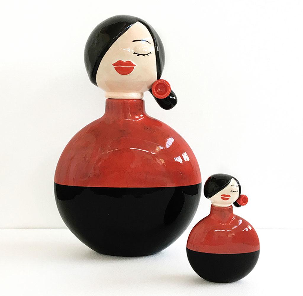 vasi ceramica colore testa tappo