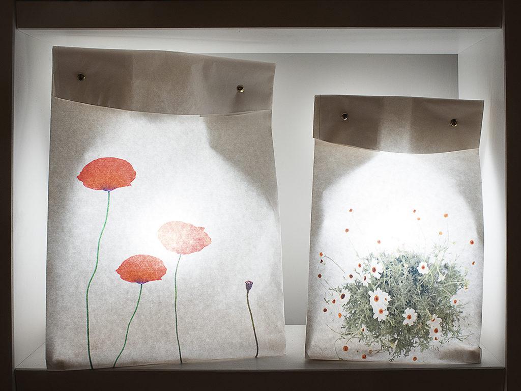 lampade saccheto carta e stampe