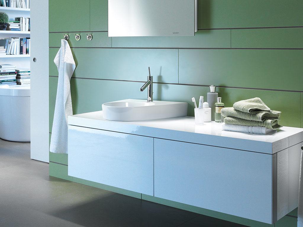 lavabo mobile sospeso doppio bianco