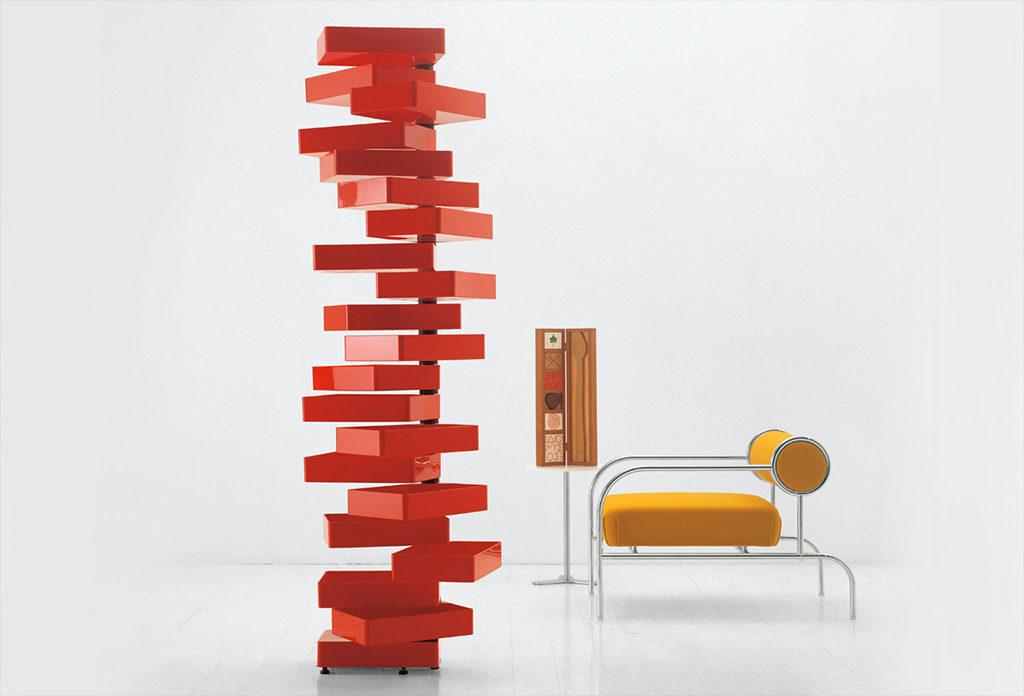 cassettiera verticale a spirale