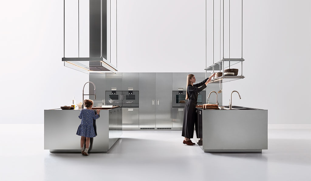cucina acciaio satinato