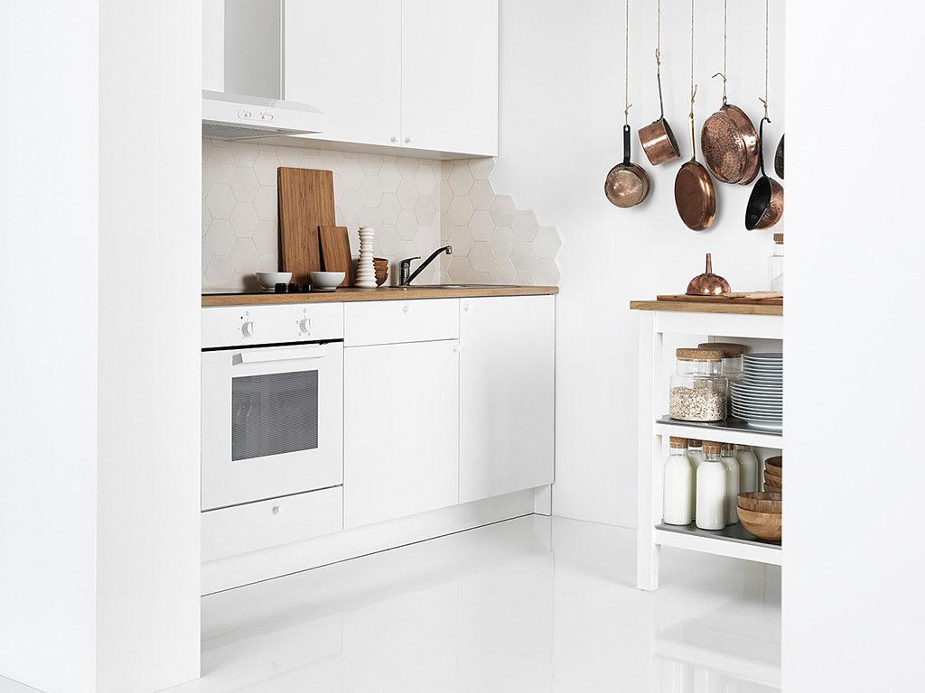 cucina compatta bianca