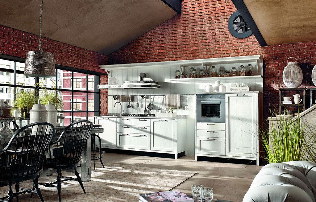 cucina legno colore pastello