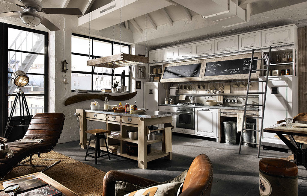 cucina legno sbiancato