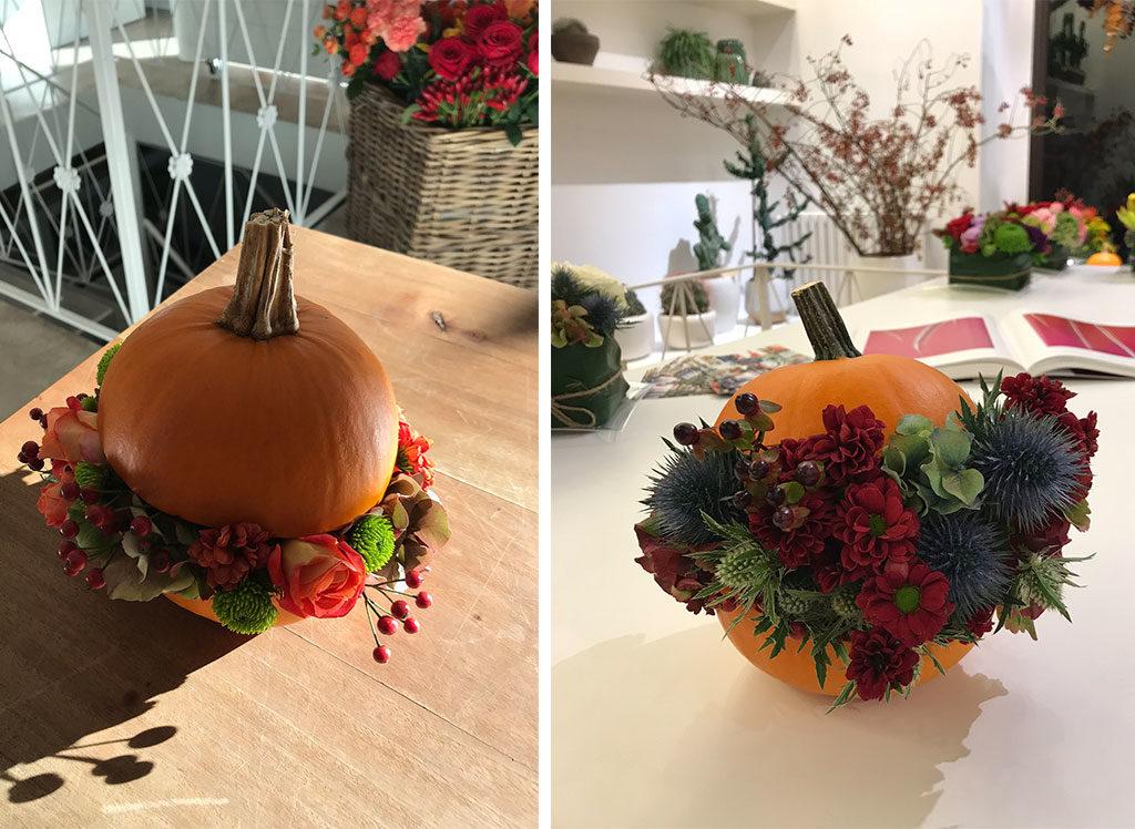 varie decorazioni fiori zucca