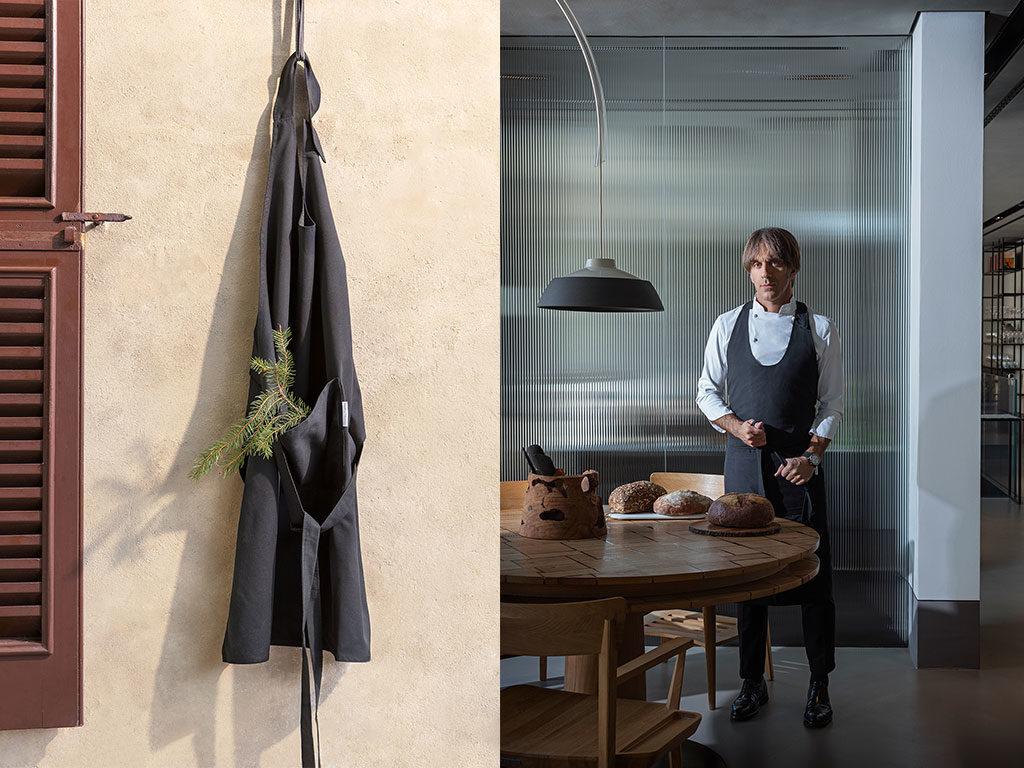 grembiule cucina grigio