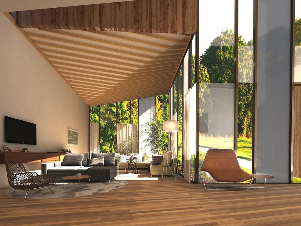 interno casa sostenibile