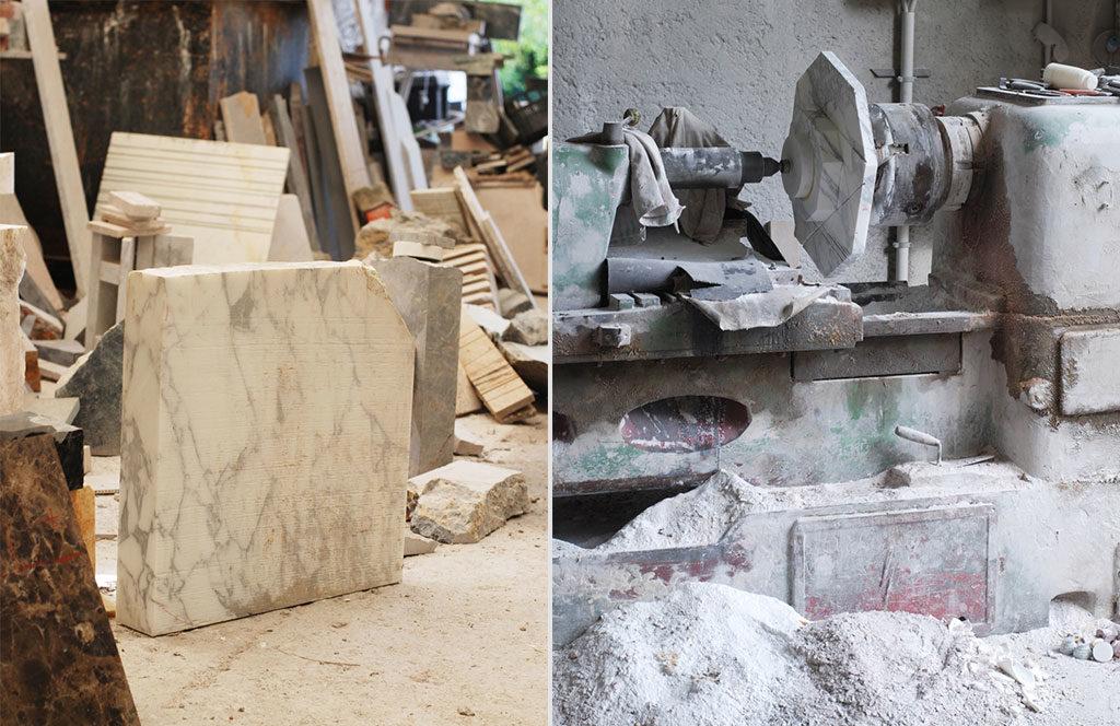 lavorazione marmo vassoio