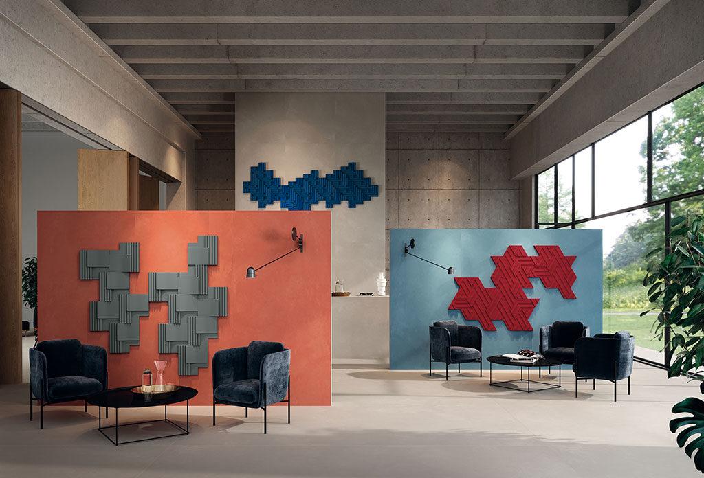 pareti colorate rivestimenti 3d