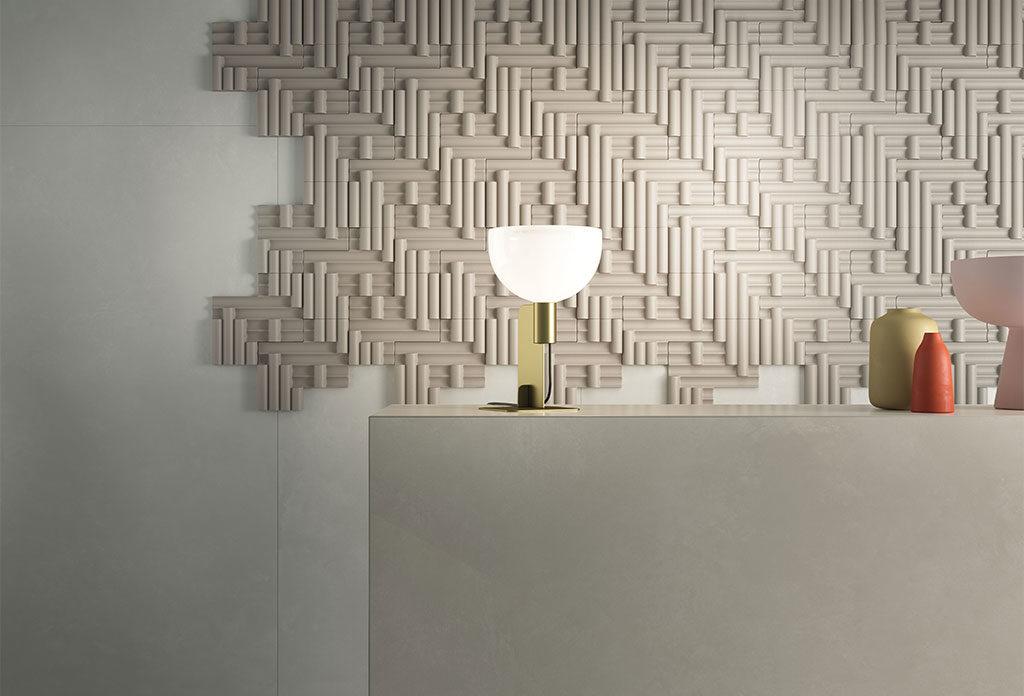 rivestimento 3d parete living