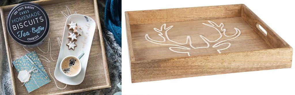vassoio legno manici