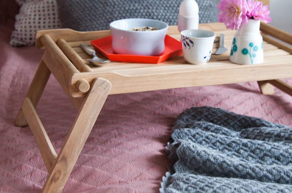 vassoio legno letto