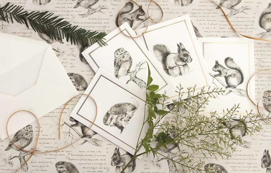 biglietti regalo e carta disegni animali
