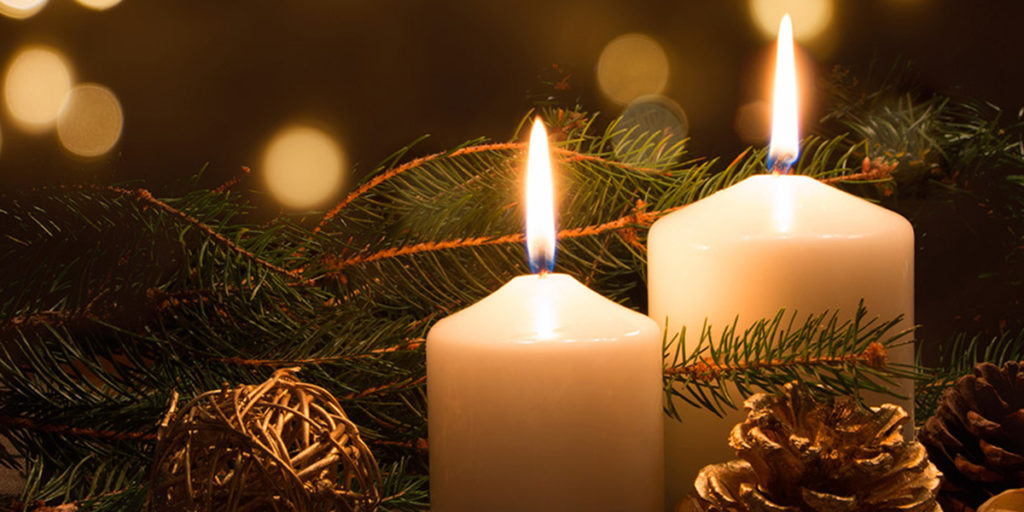candele accese natale