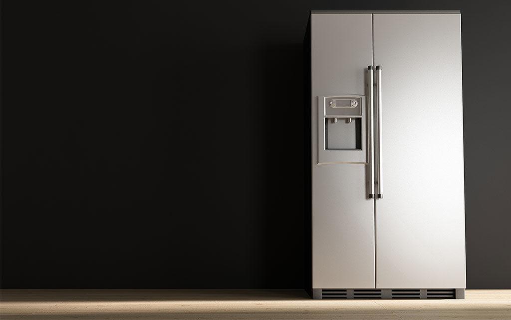 frigorifero doppia porta acciaio satinato