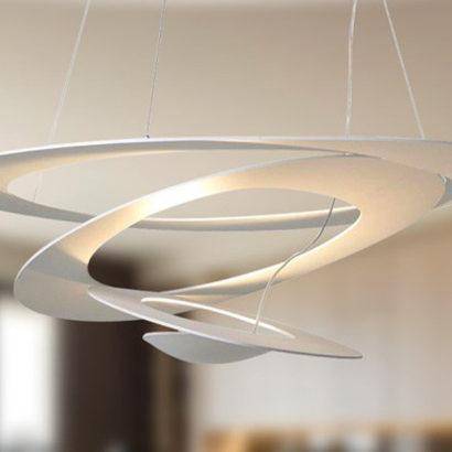 lampada sospensione cerchi ellittici