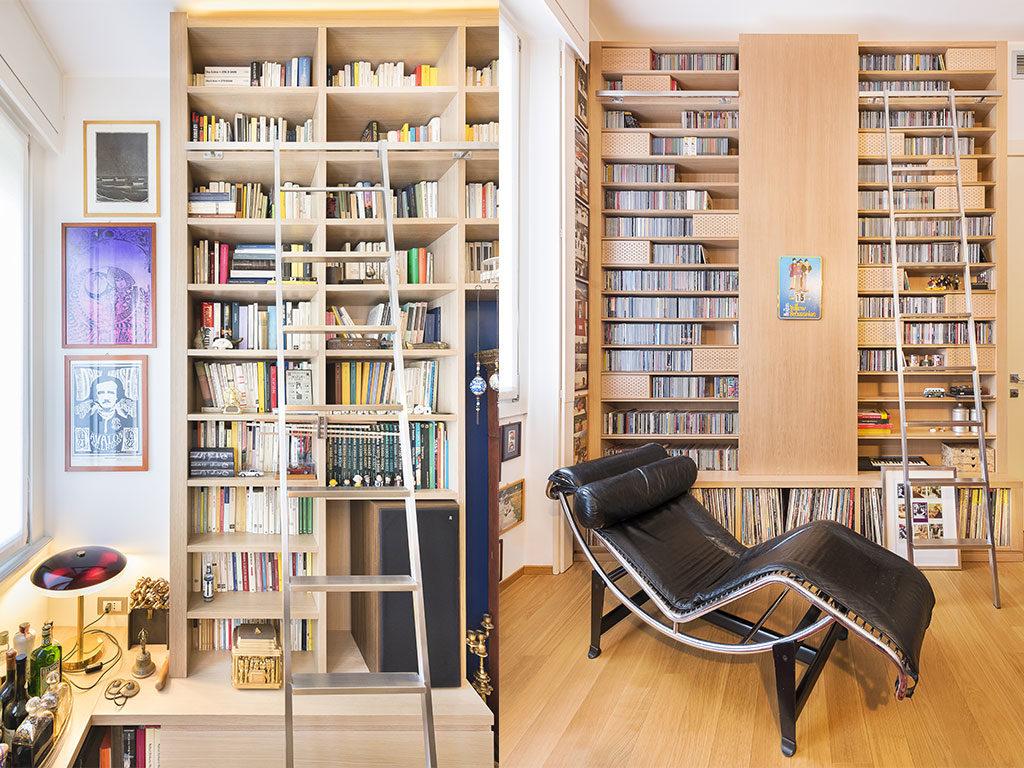 libreria casa parete scala