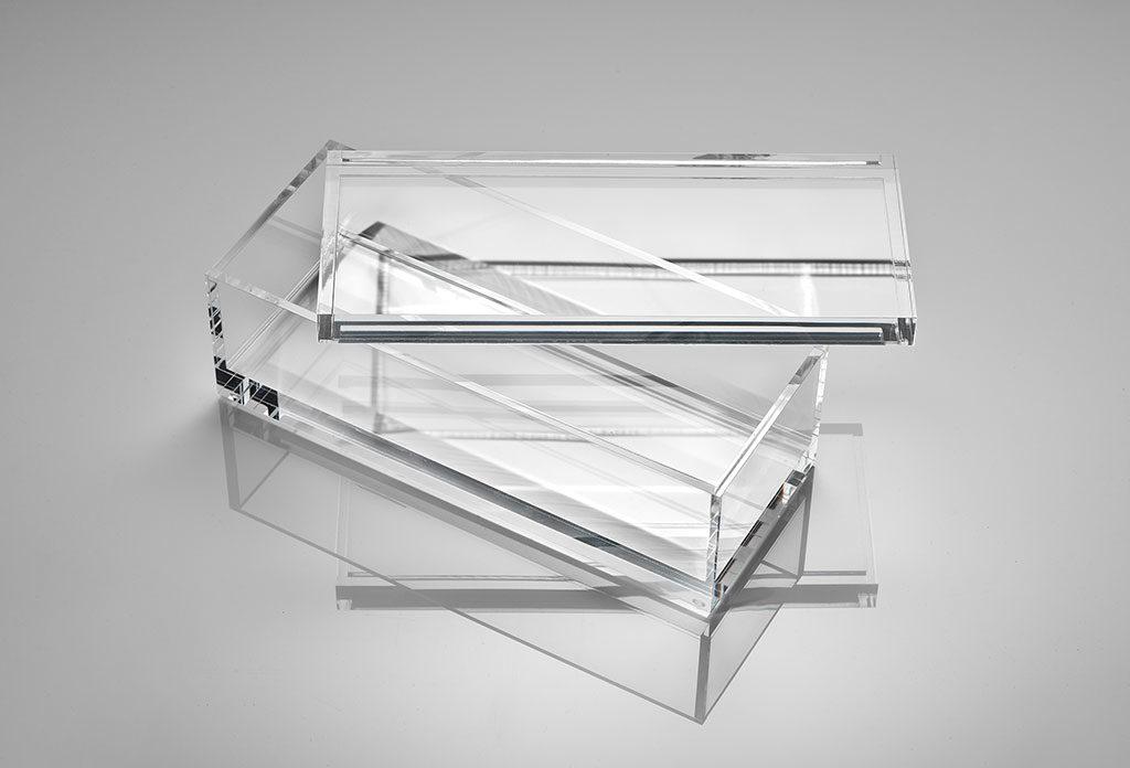 scatola portaoggetti trasparente