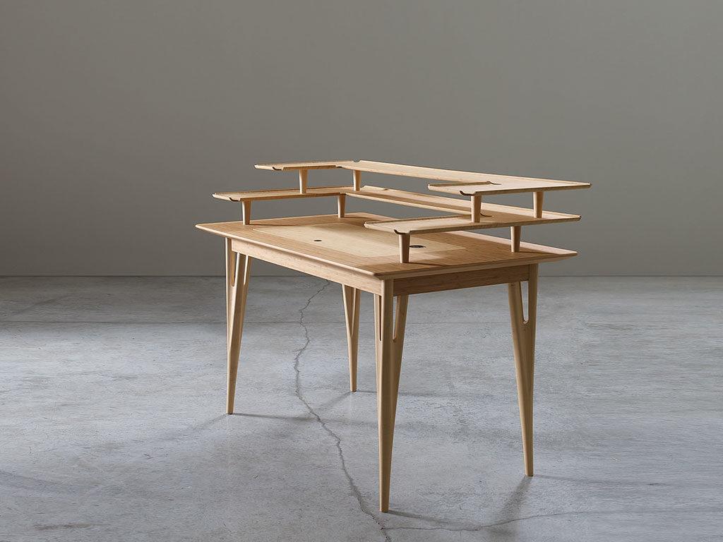 scrittoio in legno bambu chiaro