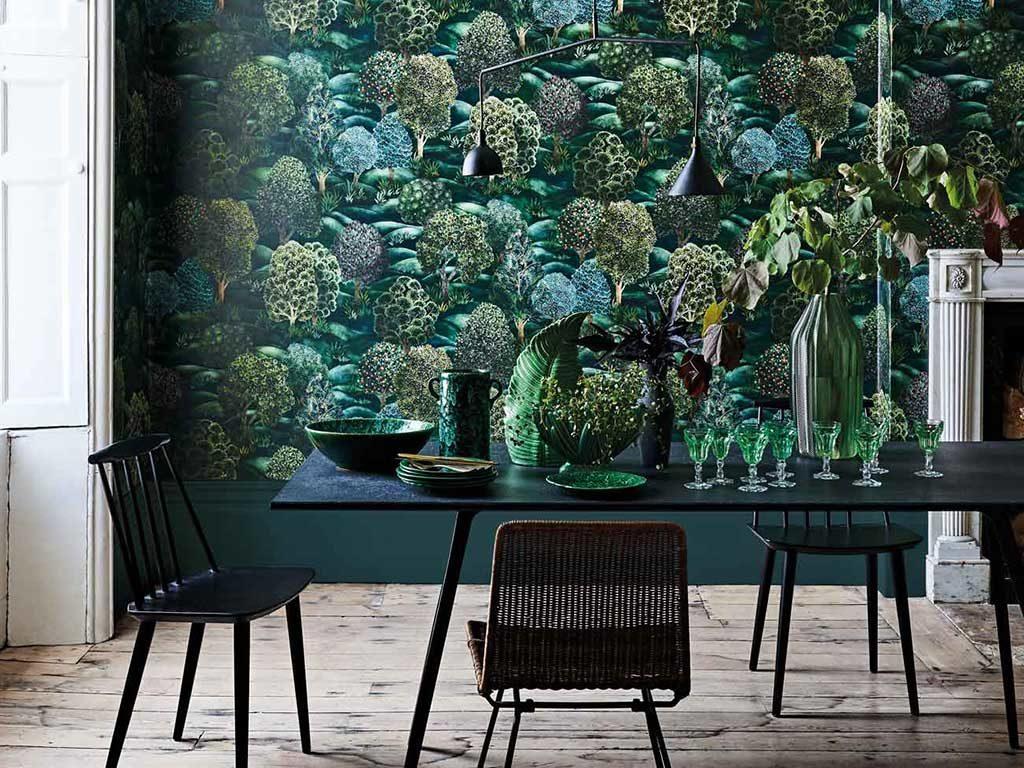 verde opale e foresta casa