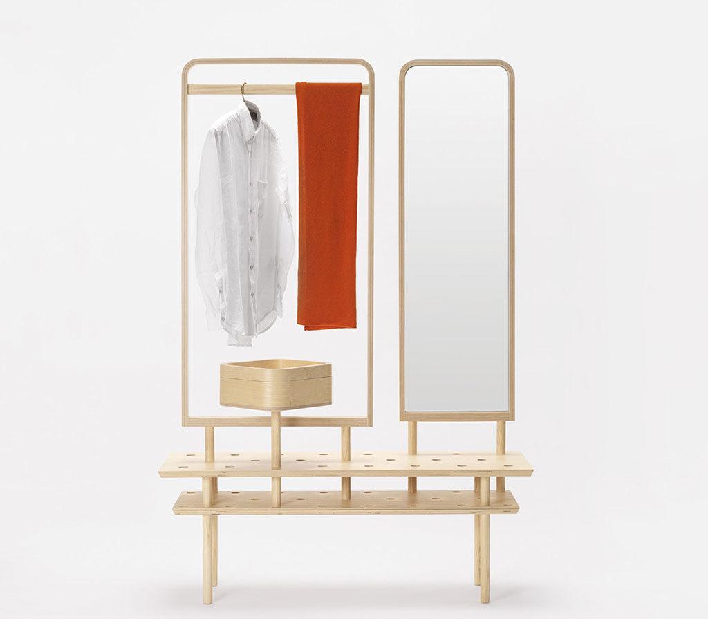 appendiabiti legno specchio