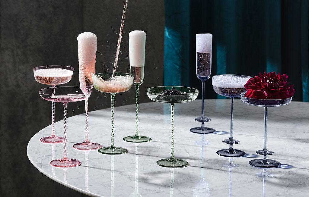 bicchieri champagne colorati
