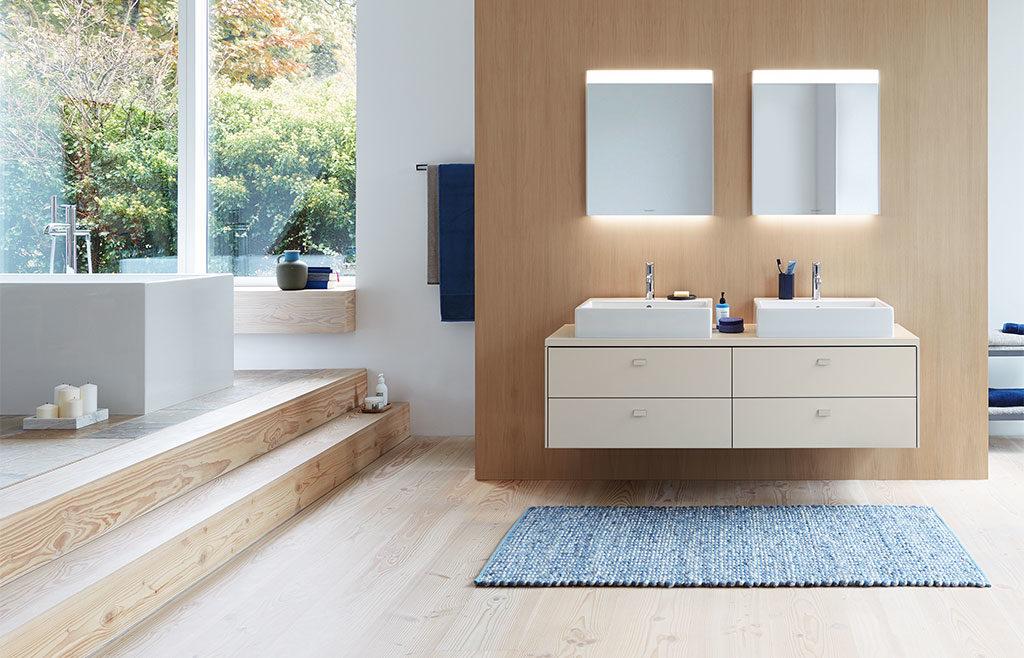doppio lavabo mobile bagno sospeso