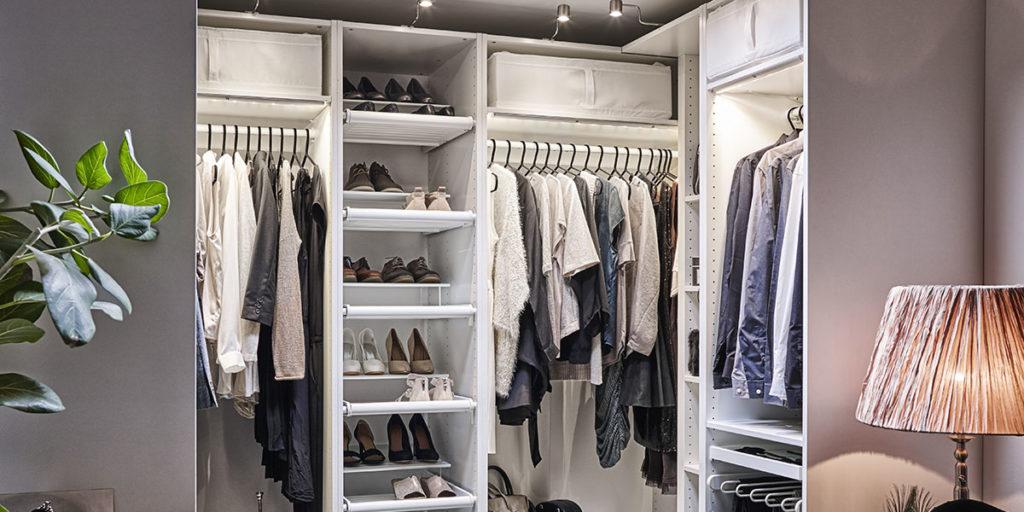 cabina armadio bianco angoli