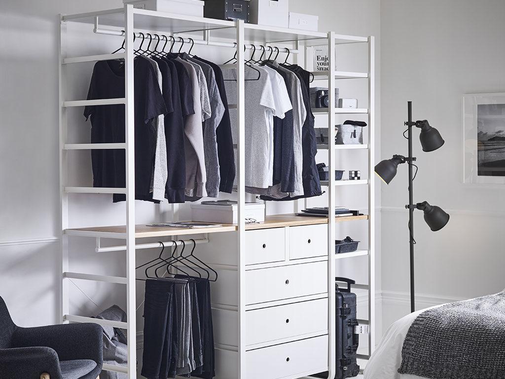 cabina armadio bianco a vista