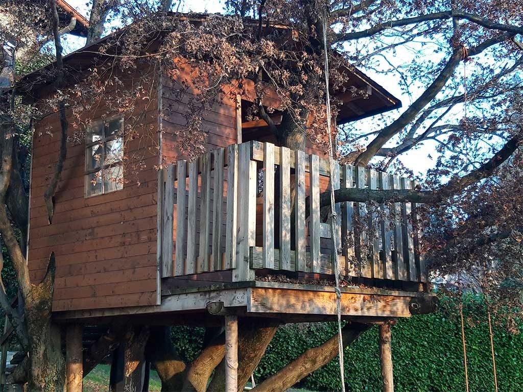 casetta costruita su albero