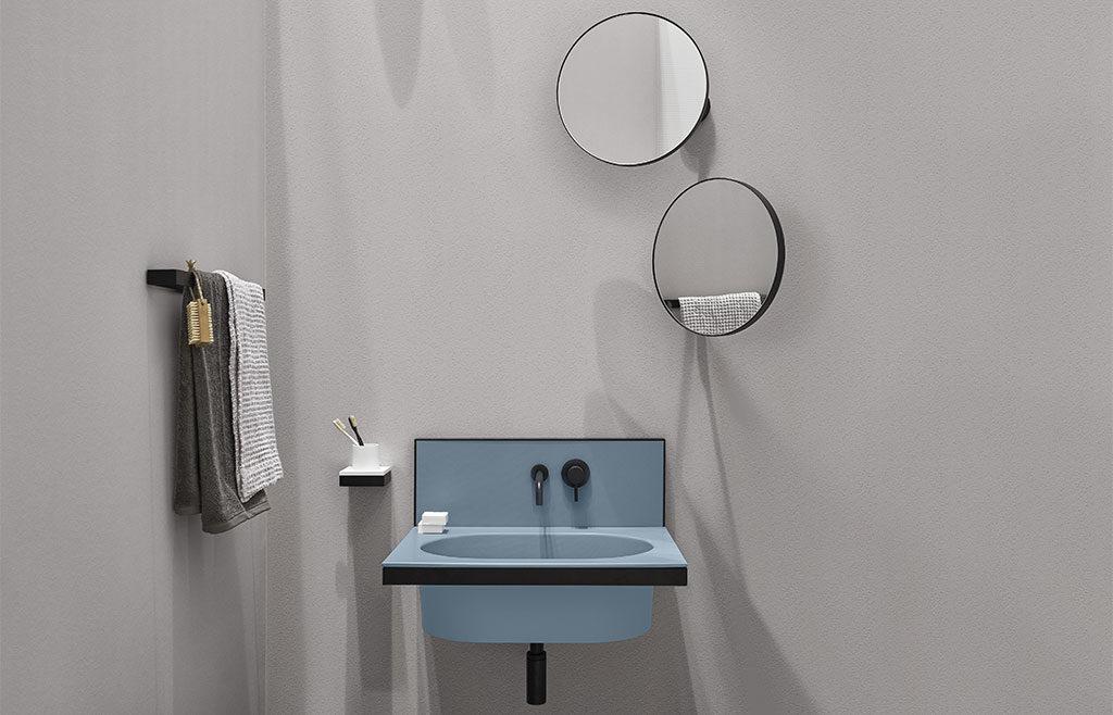 lavabo sospeso piccolo colorato