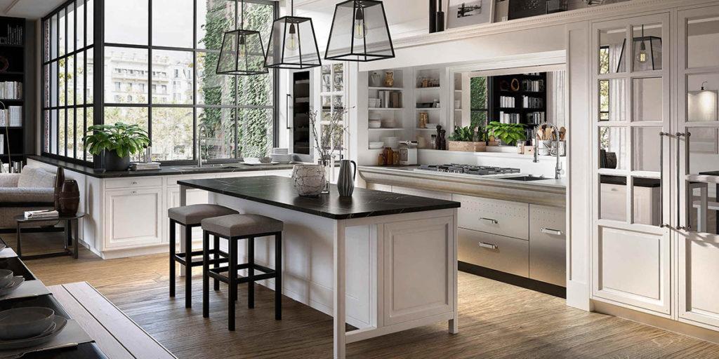 cucina bianco classico legno