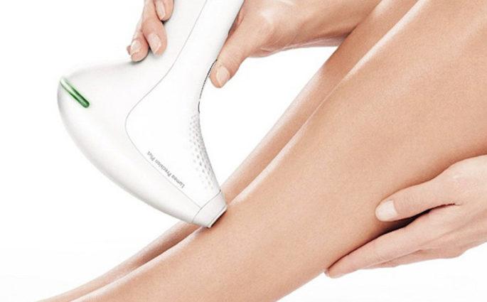 epilatore luce pulsata gambe donna