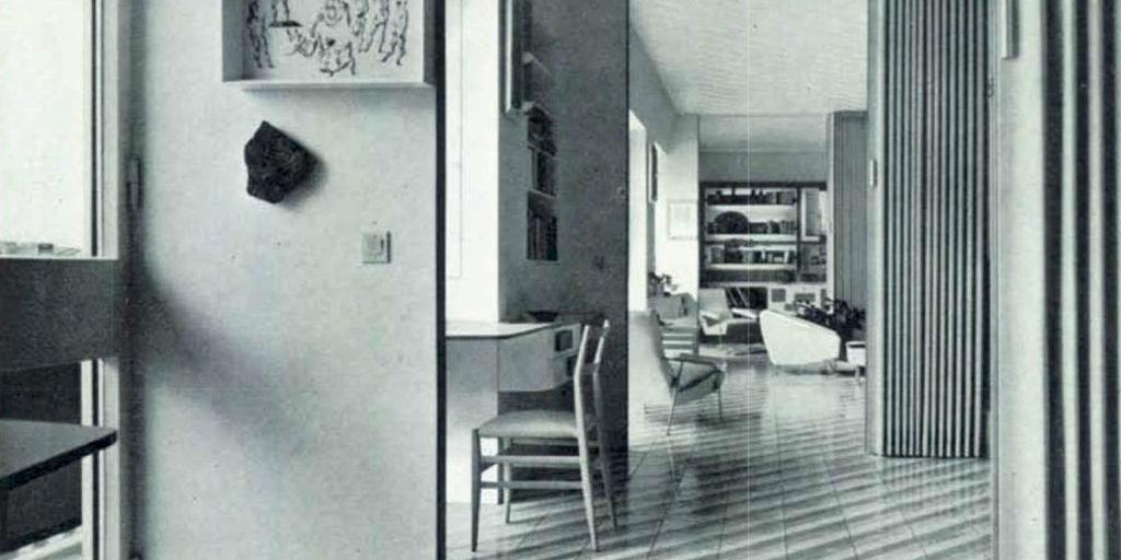 interno appartamento milano gio ponti