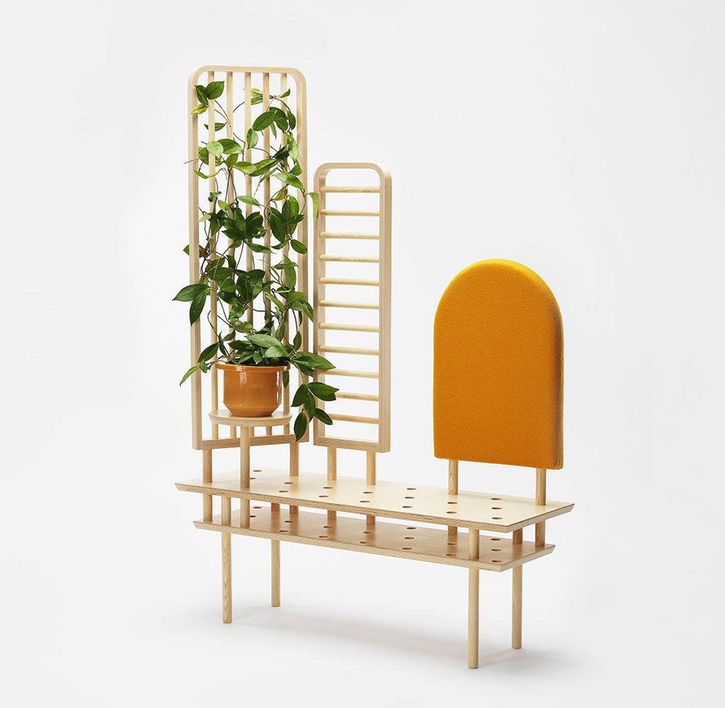 mobile legno pianta rampicante