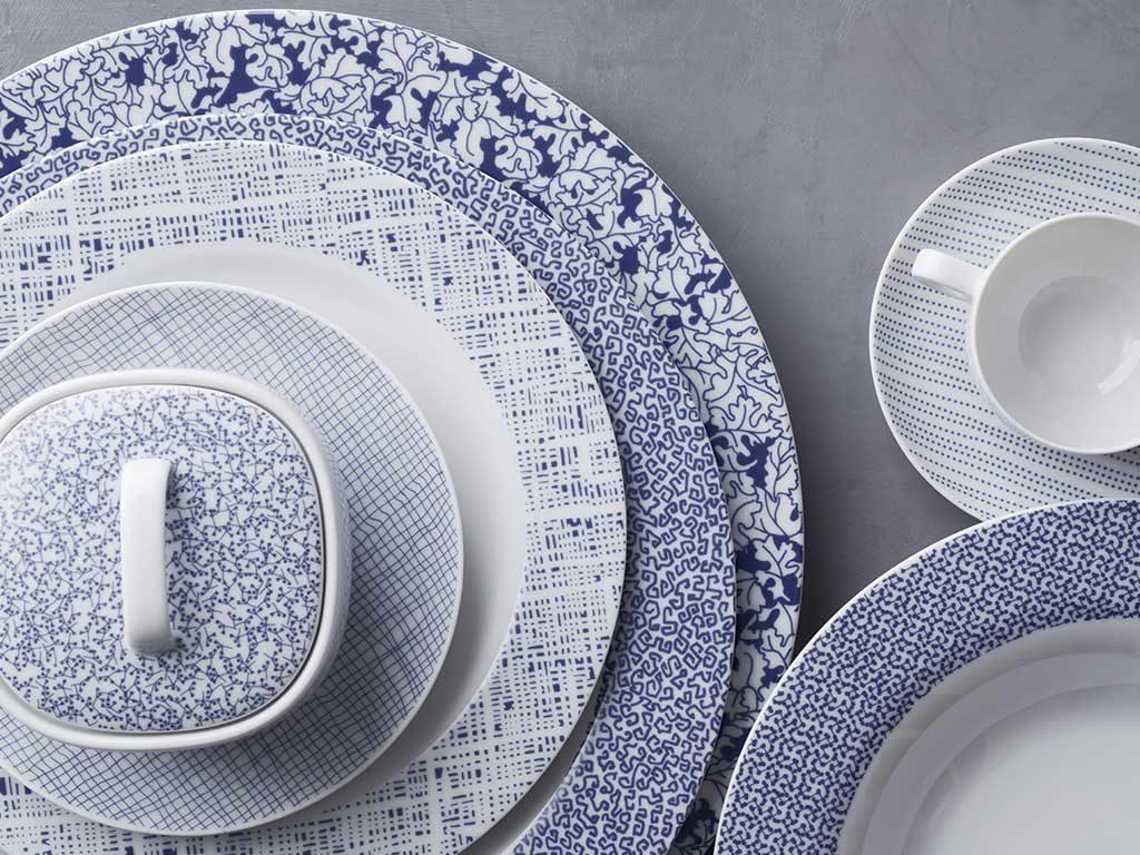 porcellana blue servizio piatti