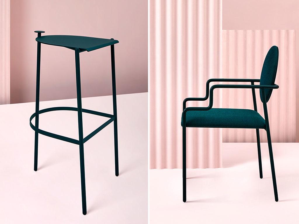 sgabello e sedia