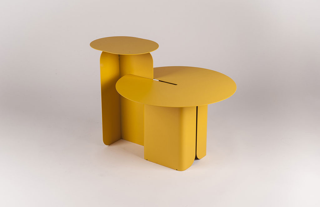 side table metallo verniciato