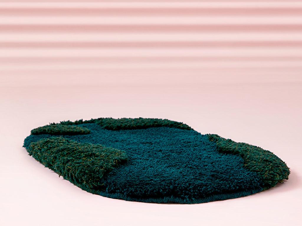 tappeto lana verde