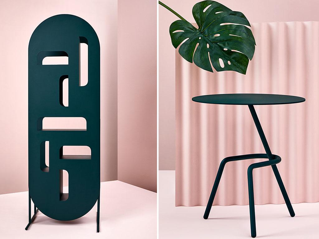 divisorio e tavolino design